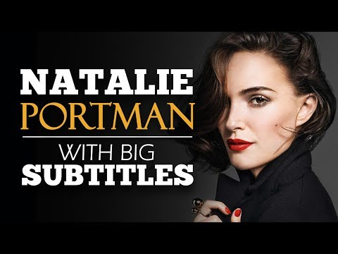 LEARN ENGLISH | NATALIE PORTMAN: Don't Doubt Yourself (English Subtitles)