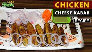 Chicken Cheese Kebab Starters  Pan fried - Without OVEN Recipe By : Parween Khan Hey Guys ! Check out my new recipe...