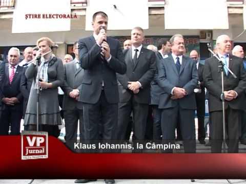 Klaus Iohannis, la Câmpina