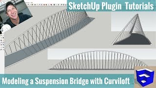 Video Creating a Suspension Bridge in SketchUp with Curviloft and Pipe Along Path MP3, 3GP, MP4, WEBM, AVI, FLV Desember 2017