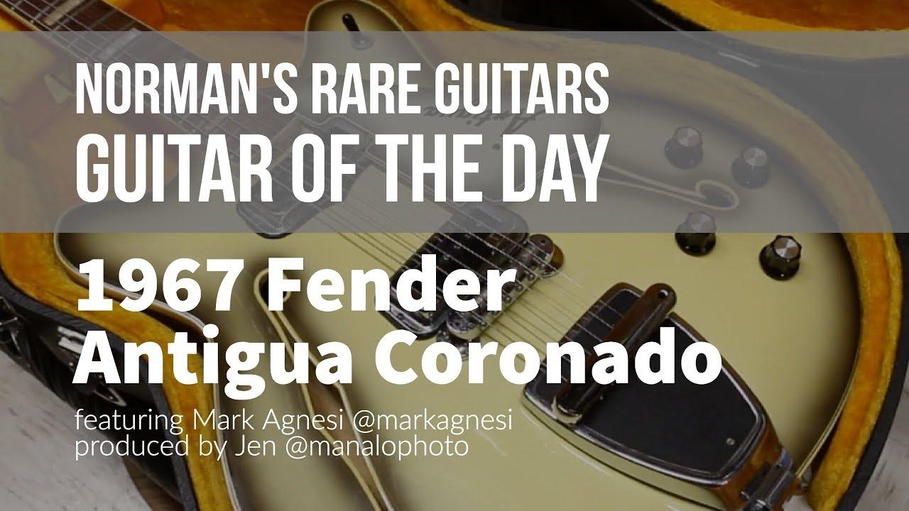 Norman's Rare Guitars – Guitar of the Day: 1967 Fender Antigua Coronado