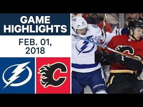 Video: NHL Game Highlights | Lightning vs. Flames – Feb. 1, 2018