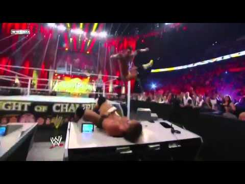 Triple H vs CM Punk at Night Of Champions 2011 HD
