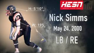Nick Simms (LB/DE) Class 2018 - 2016 NCAFA Highlights