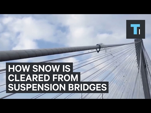 How to Clear Snow on Bridge Cables
