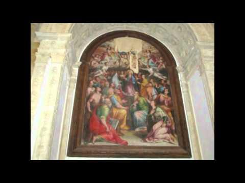 Italy Tuscany Volterra Battistero San Giovanni and Duomo Santa Maria Assunta Italië Toscane