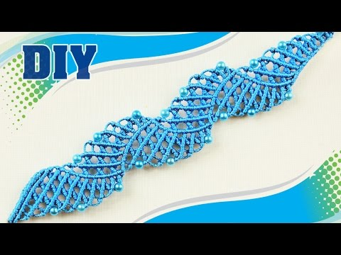 tutorial macramè - bracciale laguna blu