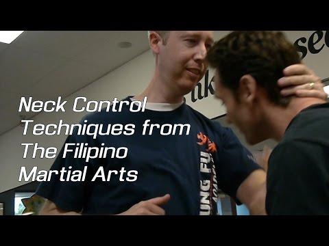 Neck control techniques from the Filipino martial arts (Kali, Escrima, Arnis)