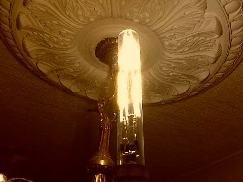 Making a DIY tubular glass LED filament lamp.