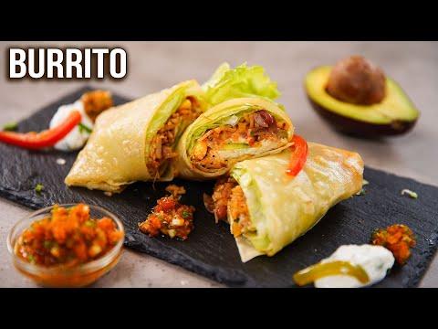 Burrito Recipe | How to Make Burrito at Home | Mexican Burrito Wrap | Easy Veg Wrap Recipes | Ruchi