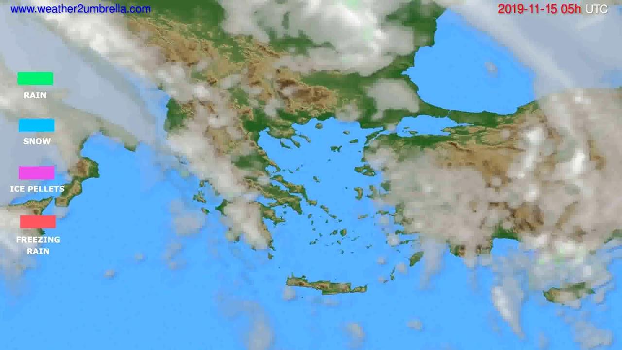 Precipitation forecast Greece // modelrun: 12h UTC 2019-11-13