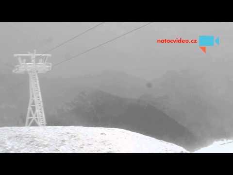Sněhová bouře na Sněžce 21.12.2014