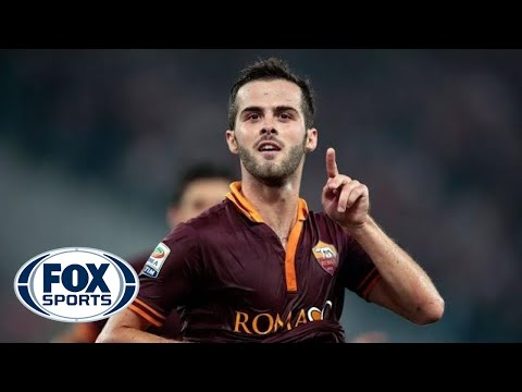 Back - Miralem Pjanic gets one back for Roma as he right foots, from his own half, a goal from more than 65 yards outs.