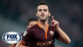 Pjanic scores from distance to pull one back for Roma - YouTube