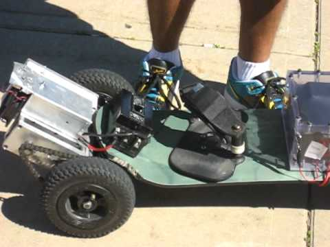 Wireless PS2 Controlled Electric Mountainboard