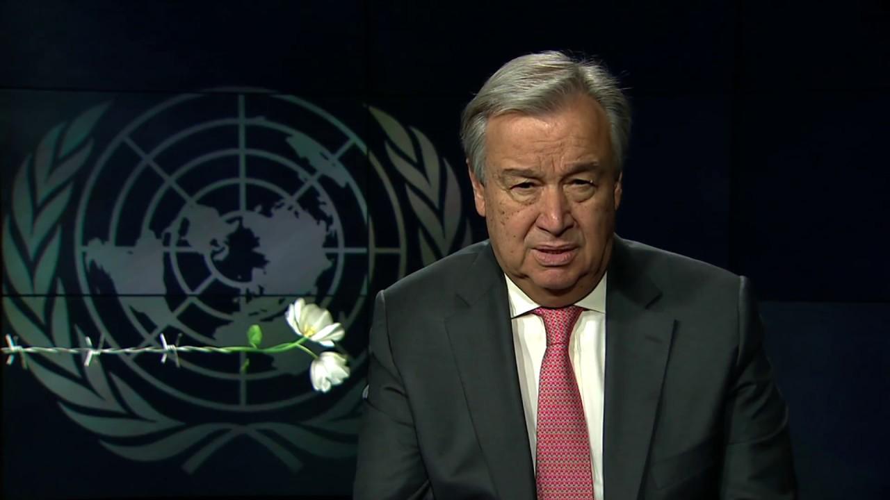 Обращение главы ООН по случаю Дня памяти жертв Холокоста