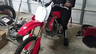 10. 2019 crf150rb first start(if it starts)