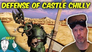"Kill them with arrows, blast them with magic, defeat their armies and protect Castle Chilly! It's defense in a virtual reality experience specifically designed with room-scaling in mind -- seamlessly combining adventure and combat.STOP THE ORCHS! Defense of Castle Chilly (HTC Vive Gameplay)Defense of Castle Chilly on Steam:http://store.steampowered.com/app/523550/Defense_of_Castle_Chilly/Support my channel by playing mobile games:http://bit.ly/40SplishSplashGames(Open link on your mobile device)10% off using promocode ""40SS"" when shopping at https://exoticmice.shop/Gaming mice, mouse pads and more!Support the video with a LIKE? Appeciated! SUBSCRIBE for Future Vids►http://www.youtube.com/user/40splishsplashWanna join TGN?http://bbtv.go2cloud.org/SH4OMy business mailadress:40splishsplash@gmail.com_________________________________________________________________★ ABOUT THE GAME:Defense of Castle Chilly is a Virtual Reality game written specifically with room-scaling in mind. Use Archery and Magic to defeat hostile armies in this Adventure and Defense hybrid. Gameplay is challenging and the world is filled with secrets to discover.Skill and intuition are a must if you expect to stand in the way of the invading forces. The bow and arrow mechanics are far more involved than your average archery shooter - it's up to you to keep your quivers re-stocked, and to learn advantageous techniques like speed-loading, enchanting, as well as plenty of unadvertised tricks that I hope you get the pleasure of discovering yourself.Adventure mode often takes you outside the castle walls and presents unique battle situations, puzzles and challenges. Each episode introduces something new and these encounters also unlock minigame modes for you to enjoy even more replay-ability.While following this story driven mode you'll be fighting in large battles, boss fights, exploring the castles secrets, and thinking your way out of predicaments. Still heavily in development, Chapter 1 Episode 1 & 2 are available now, and a preview to Chapter 2 is also provided during early access.Music:http://www.epidemicsound.com_________________________________________________________________★ SOCIAL MEDIA:http://www.facebook.com/40splishsplash?ref=hlhttps://www.google.com/+40splishsplashhttps://twitter.com/40splishsplashhttp://www.twitch.tv/40splishsplashhttps://instagram.com/40splishsplash/Do you like gaming, anime and film?Check out the latest podcast atThe Button Smasher Podcast:http://thebuttonsmashers.com/2016/04/bsp-ep-130-the-perfect-weekend/Website:http://thebuttonsmashers.com_________________________________________________________________★ Have fun and I hope to see you around my channel!"