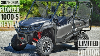 1. 2017 Honda Pioneer 1000-5 Limited Edition Review of Specs & Features / UTV Walk-Around | SXS10M5LE