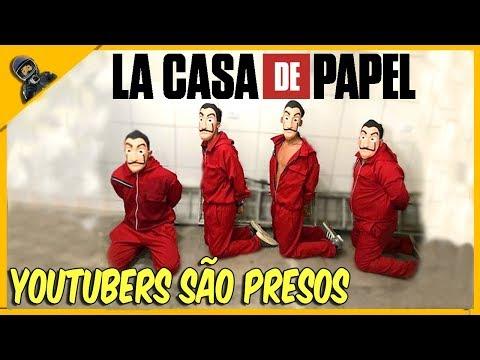 YOUTUBERS INVADIRAM O PRESIDIO VESTIDOS DE LA CASA DE PAPEL
