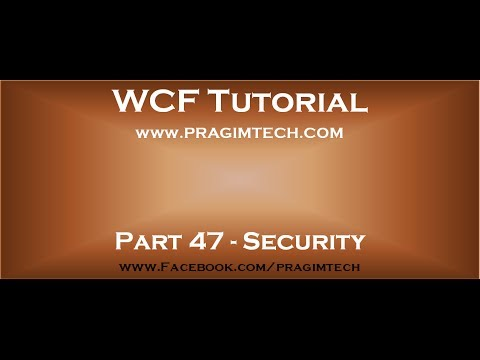 how to provide authentication in wcf