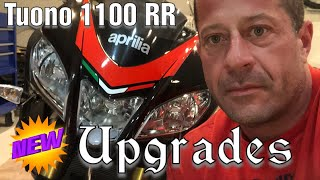 10. TUONO V4 1100RR-UPGRADES- FULL AKRAPOVIC PIPE/REAR FENDER ELIMINATOR KIT/CRG MIRRORS