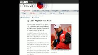 24-01-2011 - BBC Vietnamese - Lý Liên Kiệt tới Việt Nam