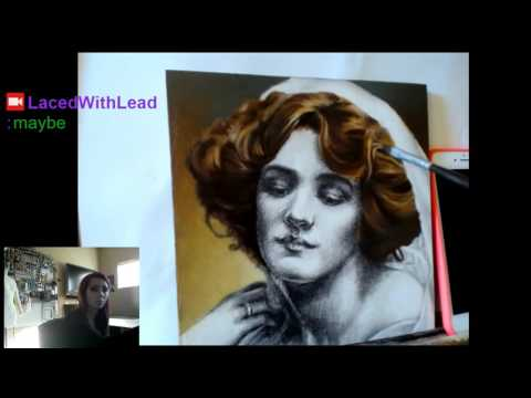 Oil Painting Victorian Portrait #painting #oil #traditional (Part 12)