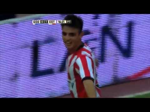 Gol de Cavallaro. Godoy Cruz 0 – Estudiantes 1. Desempate Copa Libertadores. Primera División 2016.