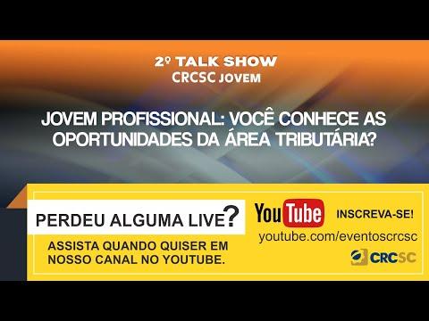 2° Talk Show CRCSC Jovem - Jovem Profissional: Você conhece as oportunidades da área tributária?
