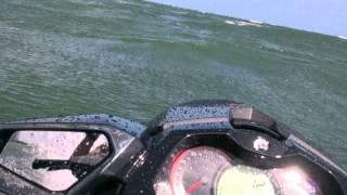3. 2013 Sea Doo GTI 155 Limited jumping big wakes.