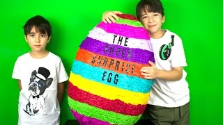 OPENING THE VERY FIRST, BIGGEST SURPRISE EGG IN THE WORLD! - SO EPIC!!!!