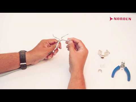 Cat 6A Toolless Shielded Keystone jack termination| Norden Communication