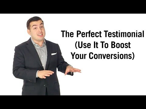 testimonial - Customer testimonials have the power to convert the most on-the-fence browsers into buyers. But most people feature HORRIBLE testimonials. In this video, I b...