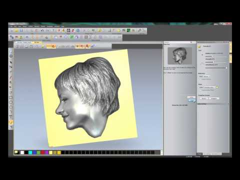 Creating A 3D Relief From A Photo Using The Face Wizard Tool In ArtCAM Insignia