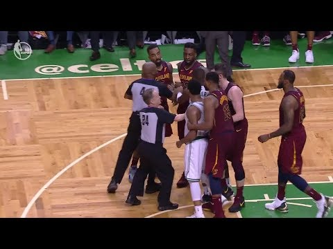 JR Smith Flagrant Foul on Al Horford - Game 2 | Cavaliers vs Celtics | 2018 NBA East Finals