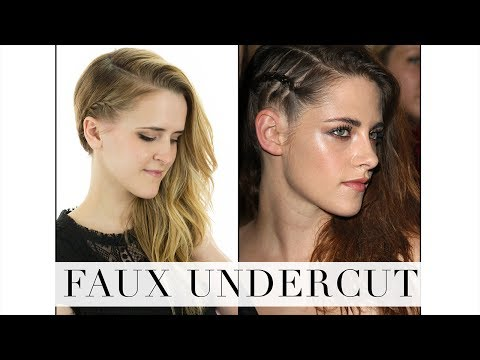 Faux Undercut Hair Tutorial
