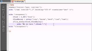 AJAX Tutorial - 5 - Creating The Content For The XML File