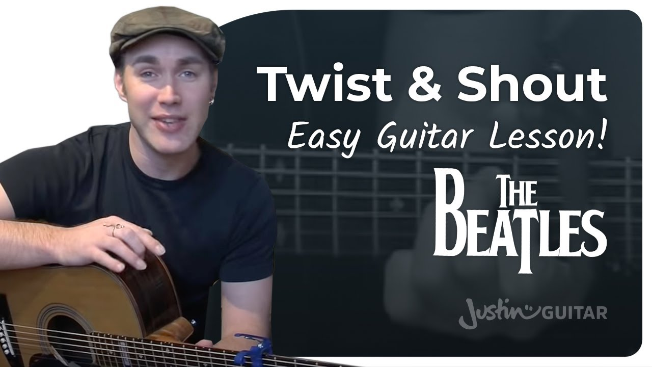 Twist And Shout – The Beatles Beginner Easy Song Guitar Lesson (BS-207) How to play