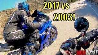 4. 2017 Yamaha R6 vs 2003 YZF-R6! 15 YEARS LATER! 😂