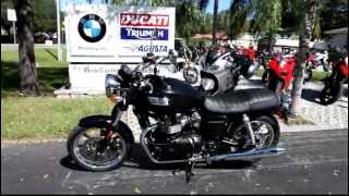 8. 2013 Triumph Bonneville in Black at Euro Cycles of Tampa Bay