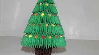How To Make 3d Origami Christmas Tree Model 2 Part 1