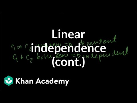 More on linear independence
