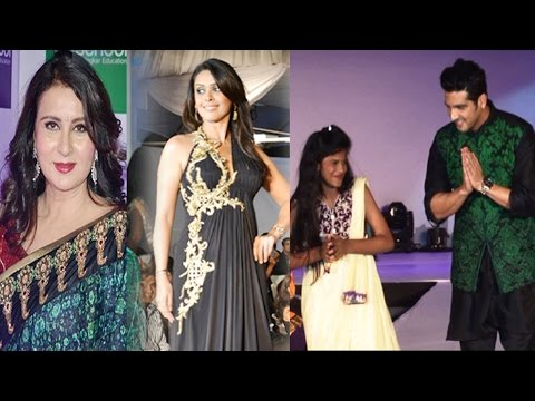 Zayed Khan, Poonam Dhilon & Others On ramp at the Global Peace Initiative, 2014