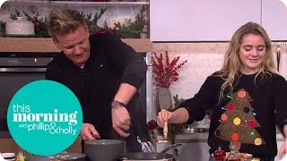 Video Gordon and Matilda Ramsay Cook a Christmas Breakfast | This Morning MP3, 3GP, MP4, WEBM, AVI, FLV Desember 2018
