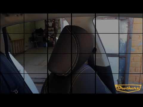 "Чехлы на Kia Optima 4, серии ""Alcantara"" - желтая строчка"