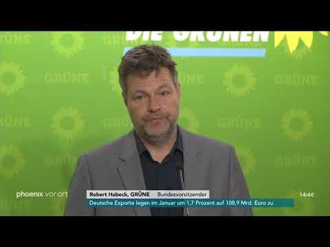 Pressekonferenz von Bündnis 90/Die Grünen mit Robert  ...