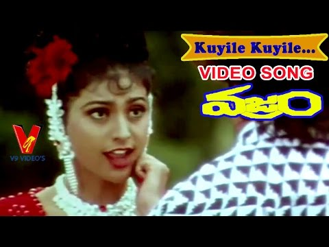 KUYILE  VIDEO SONG |VAJRAM | TELUGU MOVIE |NAGARJUNA| ROJA | K. VISHWANATH| INDRAJA| V9 VIDOES