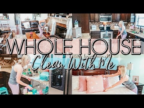 WHOLE HOUSE CLEAN WITH ME 2019|EXTREME SPEED CLEANING MOTIVATION| STAY AT HOME MOM CLEANING ROUTINE