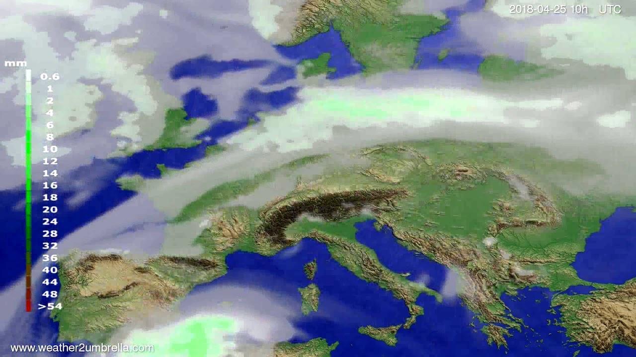 Precipitation forecast Europe 2018-04-23
